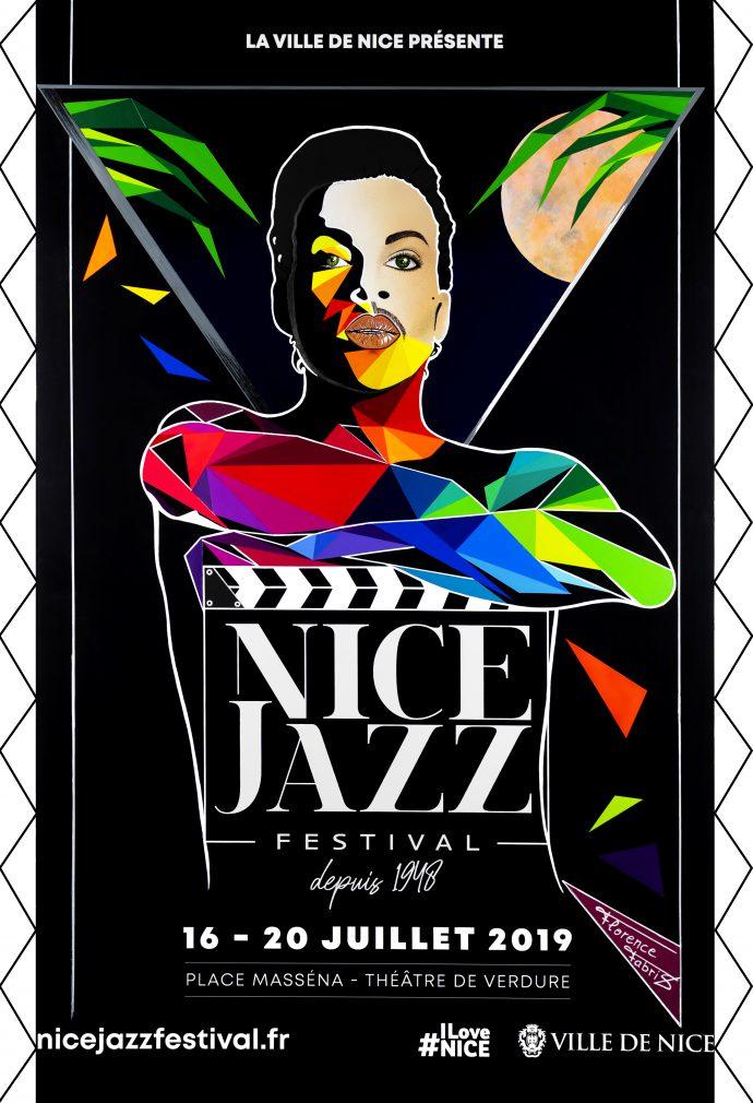 Ville-Nice-Jazz-Festival-2019-Florence-FABRIS-oeuvre-art-exposition-affiche-Plais-lascaris-Prince-Under-The-Cherry-Moon-kiss-artist